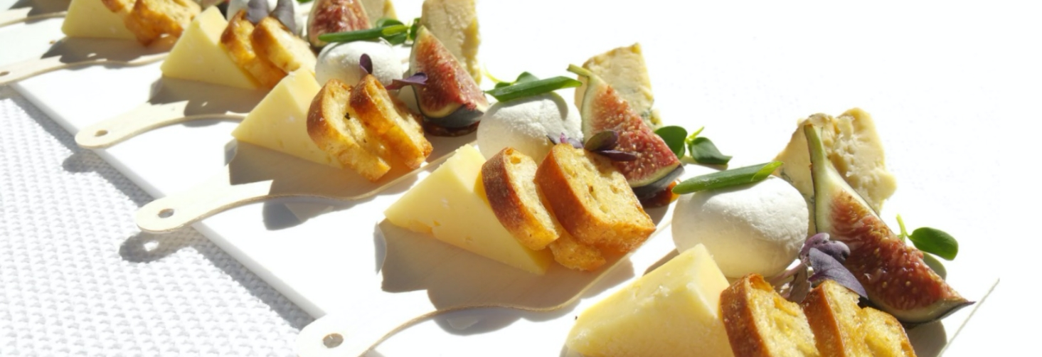 cheese and bread plate